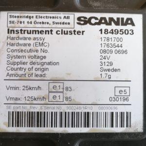 Scania, Näidikute paneel, instrument cluster